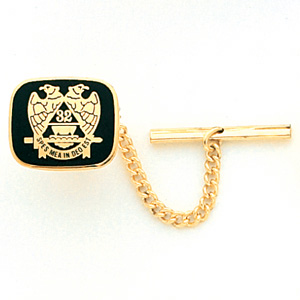 Yellow Gold Plated Masonic Scottish Rite Eagle Tie Tac