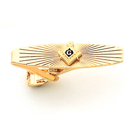 Masonic Tie Bar - Yellow Gold Plated