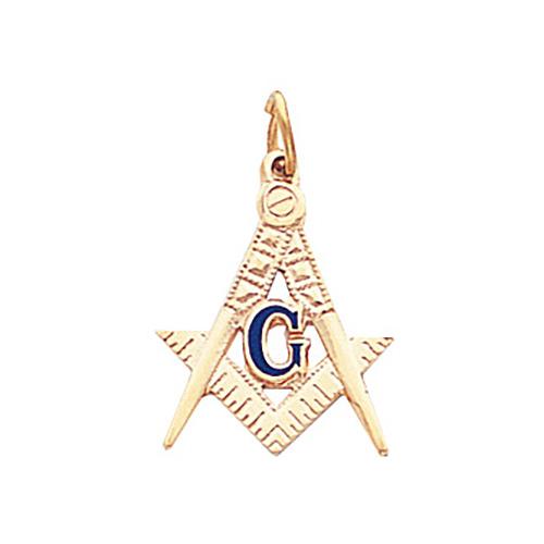 10kt Yellow Gold 3/4in Masonic Pendant