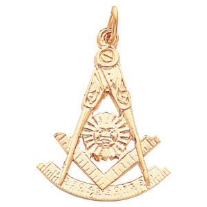 1in 10kt Gold Past Master Mason Pendant