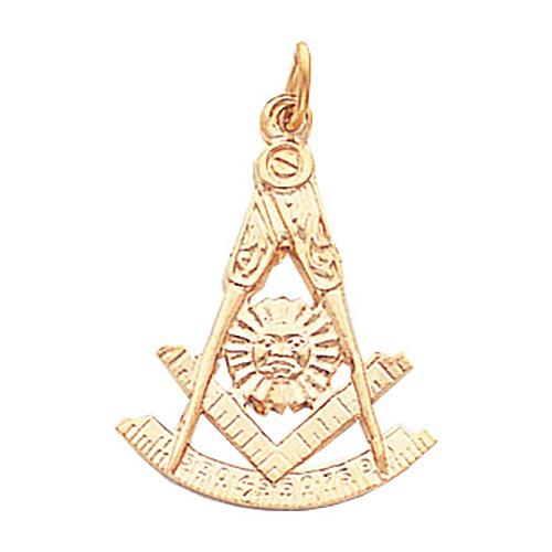 1in 10kt Gold Past Master Mason Pendant