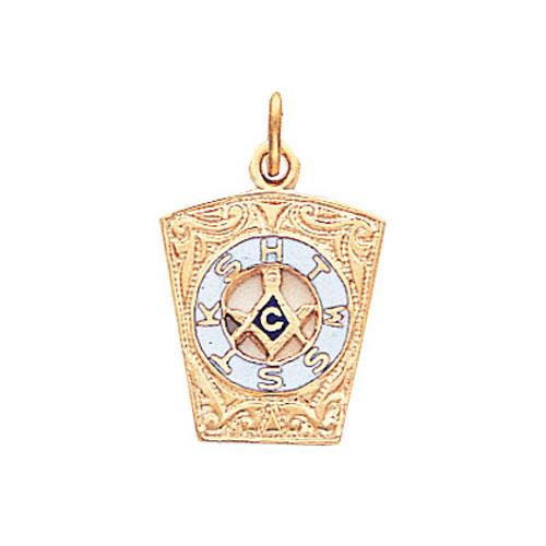 10kt Yellow Gold 5/8in HTWSSTKS Masonic Pendant