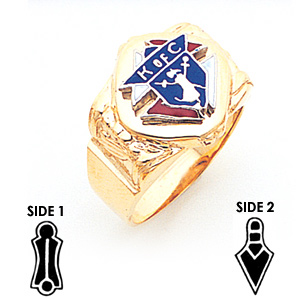 3rd Degree Knights of Columbus Gold Masonic Ring