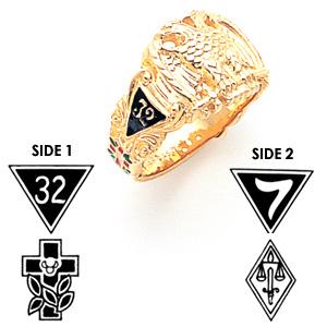 Masonic Scottish Rite Ring - 10k Gold