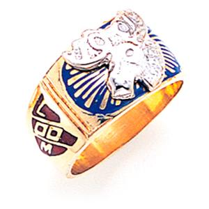 Hidden Moose Ring - Ornate 14k Gold