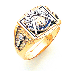 Masonic Past Master Ring - 14k Gold