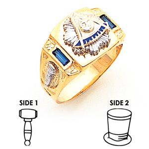 10kt Yellow Gold Wide Past Master Ring