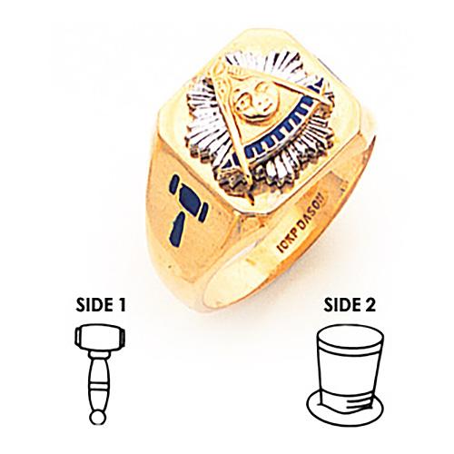 Masonic Past Master Ring - 14k Gold