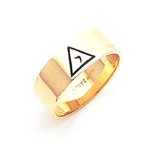 14kt Yellow Gold 8mm Scottish Rite 14th Degree Ring