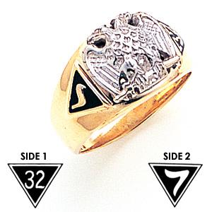 32nd Degree Scottish Rite Consistory Ring - 14k Gold