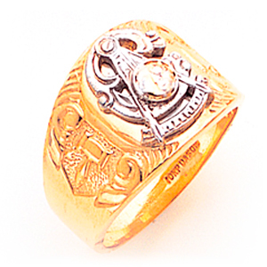 Masonic Past Master Ring - 10k Gold
