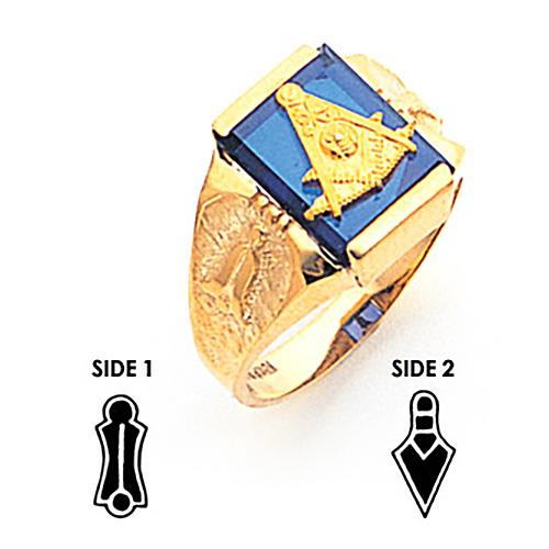 10kt Yellow Gold Tapered Masonic Past Master Ring