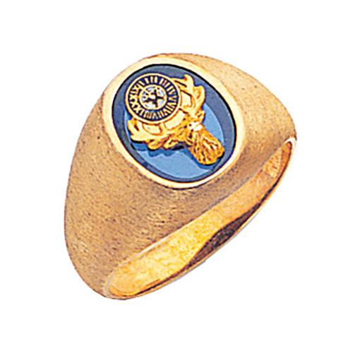 Oval Elk Ring - 14k Gold