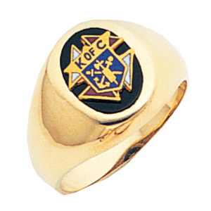 14kt Yellow Gold 3rd Degree Knights of Columbus Ring