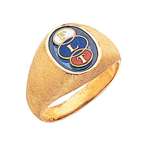 14kt Yellow Gold Odd Fellow Signet Ring
