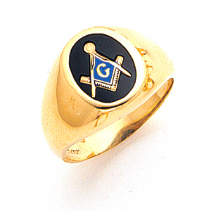 Masonic 3rd Degree Blue Lodge Ring - 14k Gold