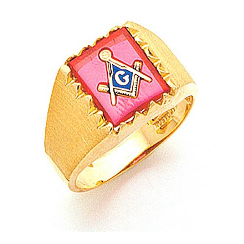 Masonic 3rd Degree Blue Lodge Ring - 14k Gold