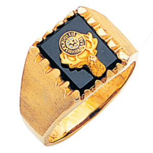10kt Yellow Gold BPO Elks Ring