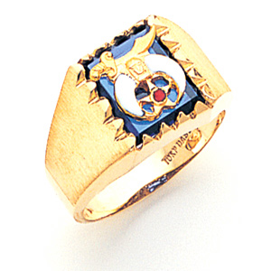 Rectangular Shrine Ring - 14k Gold