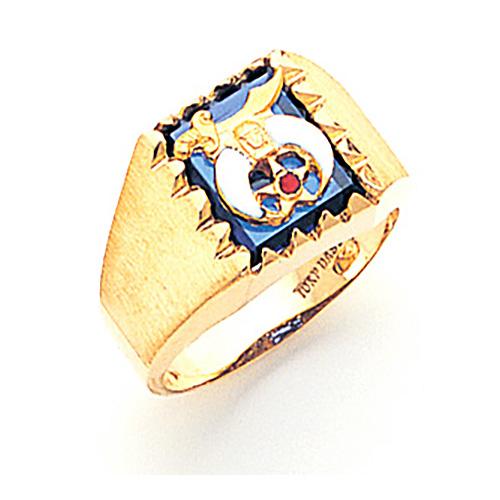 Rectangular Shrine Ring - 14k Gold
