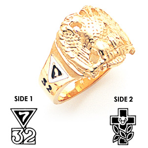 Masonic Scottish Rite Ring - 10k Gold