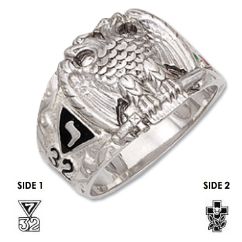 Sterling Silver Scottish Rite Masonic Ring