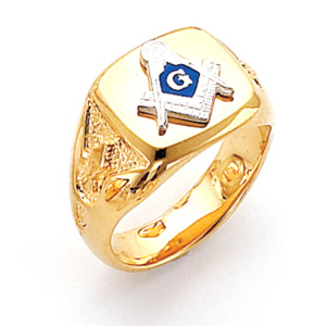 Vermeil Masonic Ring with Smooth Top