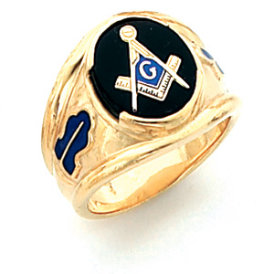 Vermeil Large Oval Blue Lodge Ring