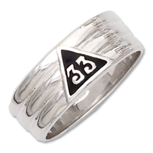 Sterling Silver 33 Degree Masonic Ring