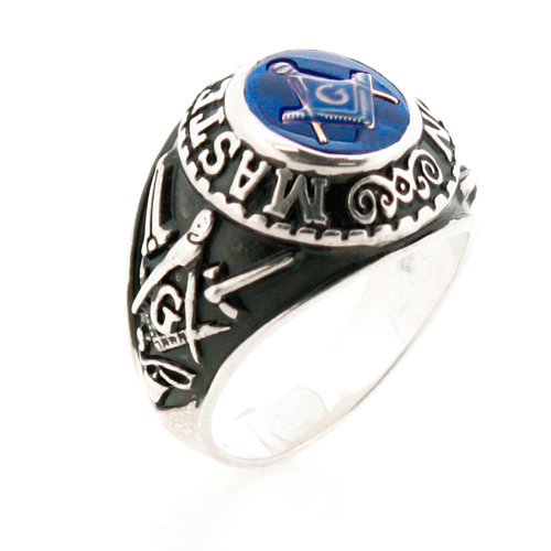 Sterling Silver Oval Master Mason Ring