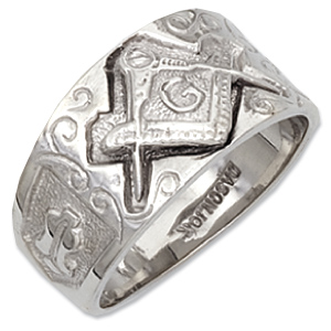 Sterling Silver Masonic Blue Lodge Ring