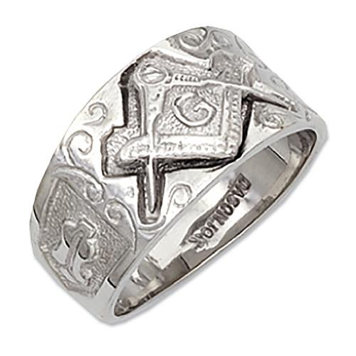 Sterling Silver Masonic Blue Lodge Ring