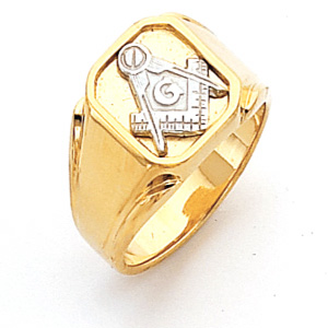 Vermeil Two Tone Blue Lodge Ring
