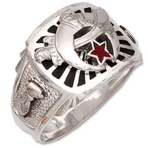 Sterling Silver Shriner Ring