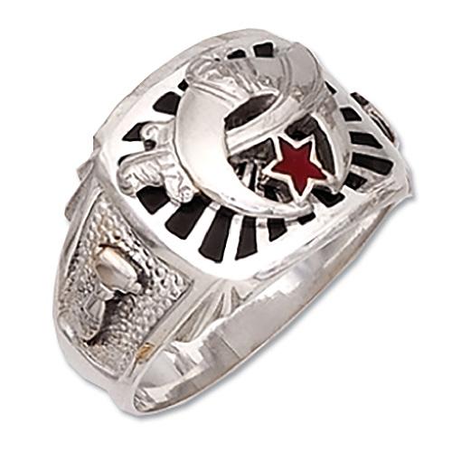 Sterling Silver Shriner Ring