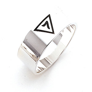 Sterling Silver 8mm Scottish Rite 14th Degree Ring