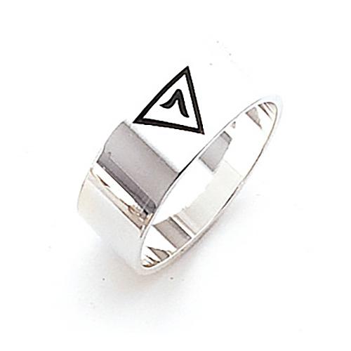 Sterling Silver 8mm Scottish Rite 14th Degree Ring