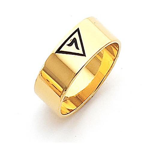 Vermeil 8mm Scottish Rite 14th Degree Ring