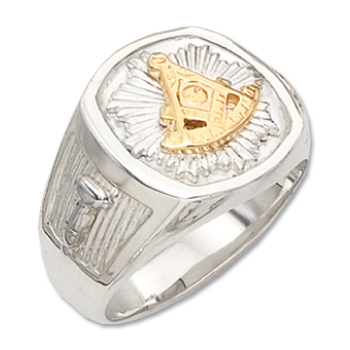 Sterling Silver Masonic Past Master Signet Ring
