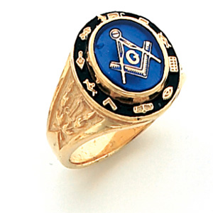 Cipher Blue Lodge Ring - Vermeil