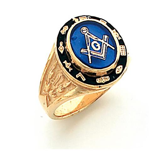Cipher Blue Lodge Ring - Vermeil