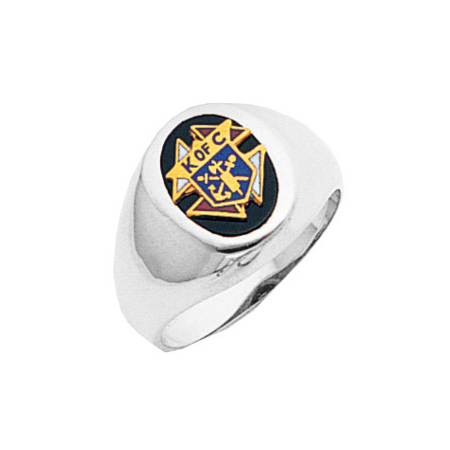 Sterling Silver Knights of Columbus Ring