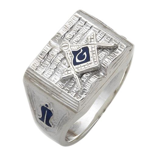 Sterling Silver Holy Bible Masonic Ring