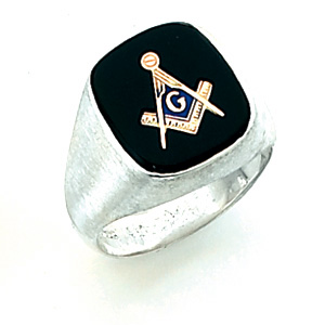 Sterling Silver Jumbo Blue Lodge Ring