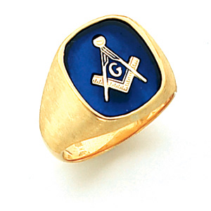 Vermeil Jumbo Blue Lodge Ring