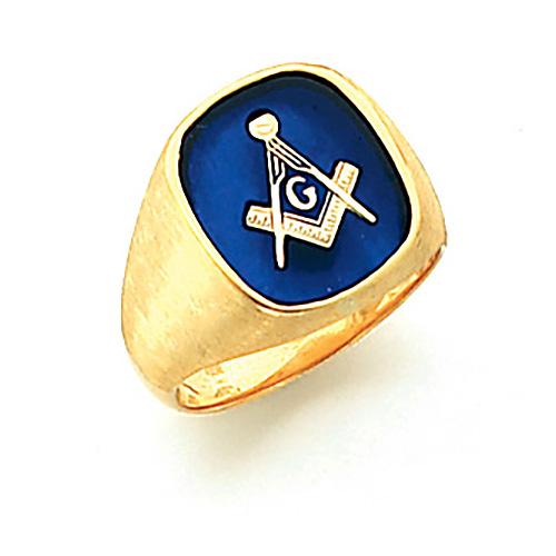 Vermeil Jumbo Blue Lodge Ring