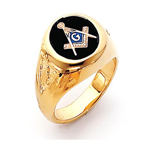 Round Blue Lodge Ring - Vermeil