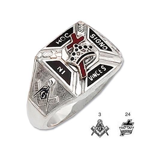 Sterling Silver Knights Templar Ring