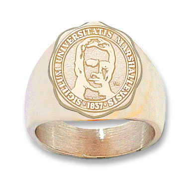 14kt Yellow Gold Marshall University Seal Ring