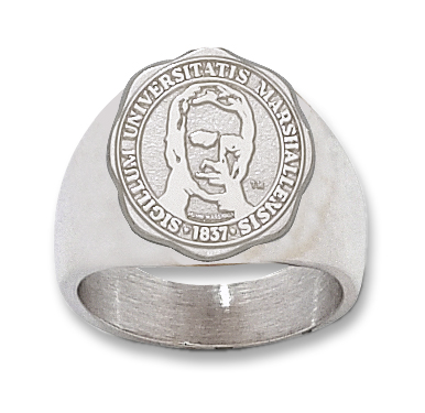 Sterling Silver Marshall University Seal Ring